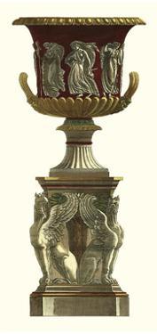 Piranesi Vase on Pedestal I by Piranesi Giovanni