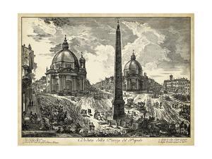 Veduta della Piazza del Popolo by Piranesi