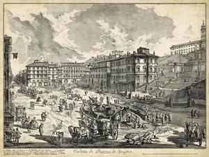 Veduta di Piazza di Spagna by Piranesi