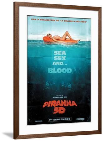 Piranha 3-D - French Style--Framed Poster