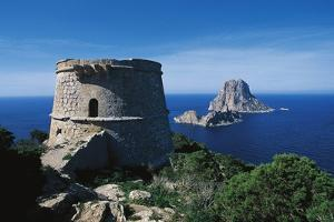 Pirate Tower and Es Vedra, Ibiza (Unesco World Heritage List, 1999), Balearic Islands, Spain
