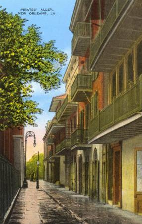 Pirates' Alley, New Orleans, Louisiana