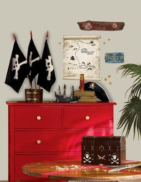 Pirates Maps & Signs Peel & Stick Giant Wall Decals