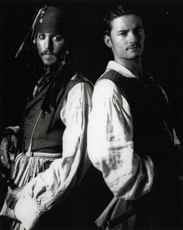 Pirates of Caribbean GLOSSY PICTURE POSTER Depp Bloom