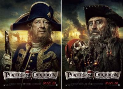 Pirates of the Caribbean: On Stranger Tides (Geoffrey Rush, Ian McShane, Johnny Depp) Movie Poster