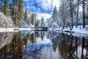 Winter Reflection at Yosemite by Piriya Photography