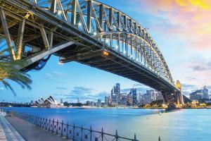 Sydney, Australia. Amazing Skyline at Dusk. by pisaphotography