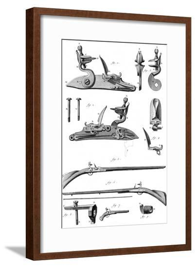 Pistols and Rifles 18th C--Framed Giclee Print