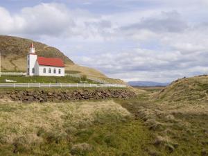 Helgafell Church Near Stykkisholmur, Snaefellsnes Peninsula, Iceland, Polar Regions by Pitamitz Sergio