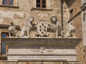 Palazzo Tarugi, Piazza Grande, Montepulciano, Val D'Orcia, Siena Province, Tuscany, Italy, Europe by Pitamitz Sergio