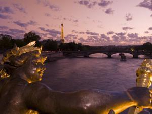 Pont Alexandre Iii, River Seine and Eiffel Tower, Paris, France, Europe by Pitamitz Sergio