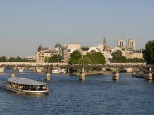 River Seine and Ile De La Cite, Paris, France, Europe by Pitamitz Sergio