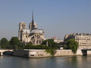 River Seine and Notre Dame Cathedral, Paris, France, Europe by Pitamitz Sergio