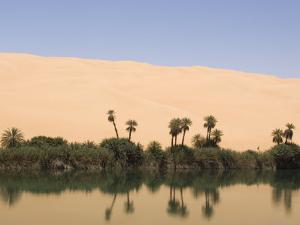 Umm El Ma Lake, Erg Awbari, Sahara Desert, Fezzan, Libya, North Africa, Africa by Pitamitz Sergio