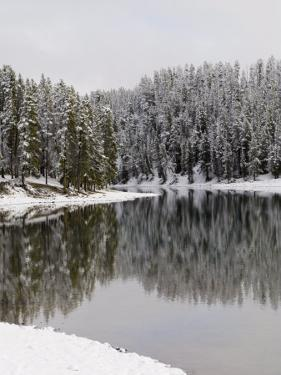 Yellowstone River in Winter, Yellowstone National Park, UNESCO World Heritage Site, Wyoming, USA by Pitamitz Sergio