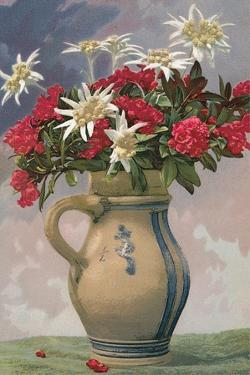Pitcher Used as Flower Vase
