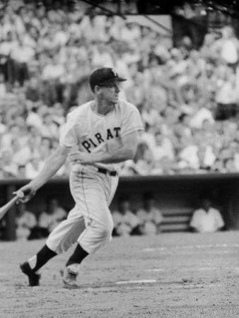 Pittsburgh Pirates' First Baseman Dale Long in Action