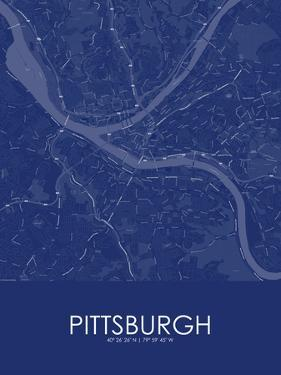 Pittsburgh, United States of America Blue Map