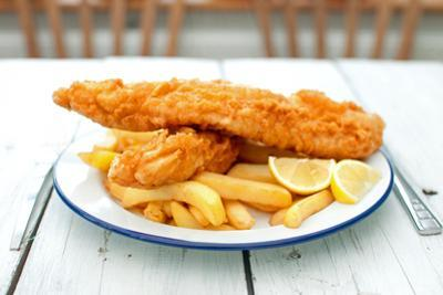 Traditional English Fish and Chips by Pixelbliss