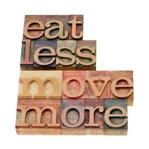 Eat Less, Move More by PixelsAway