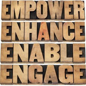Empower, Enhance, Enable and Engage by PixelsAway