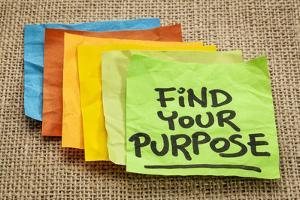 Find Your Purpose - Motivational Reminder - Handwriting on Sticky Note by PixelsAway