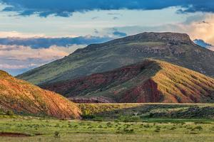 Foothills of Rocky Mountains in Colorado - Red Mountain Open Space near Fort Collins with a Dam on by PixelsAway