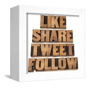 Like, Share, Tweet, Follow Words by PixelsAway