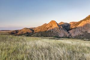Sunset in Mountains - Eagle Nest Rock and Prairie in Northern Colorado near Fort Collins by PixelsAway