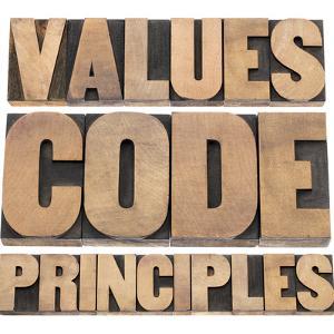 Values, Code, Principles Words by PixelsAway