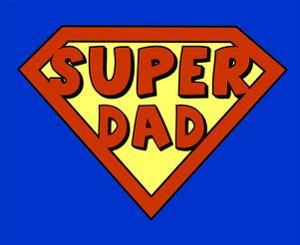 Funny Super Dad Shield by PiXXart