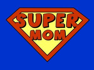 Funny Super Mom Shield by PiXXart