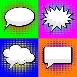 Pop Art Comic Speech Bubbles by PiXXart
