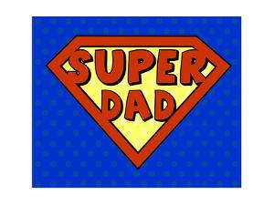 Super Dad Shield in Pop Art Style by PiXXart