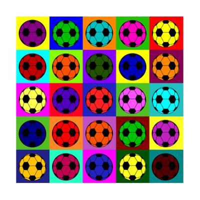 Warhol Footballs by PiXXart