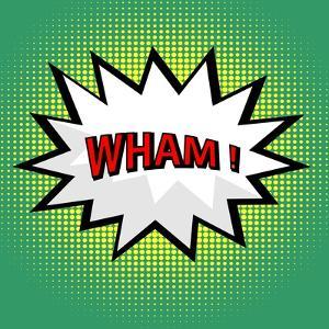 Wham! Comic Cloud in Pop Art Style by PiXXart