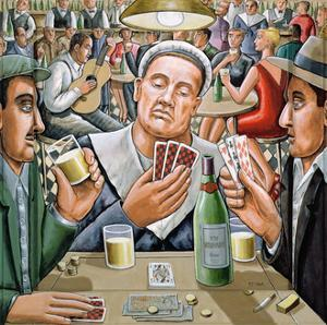 The Poker Players, 2003 by PJ Crook