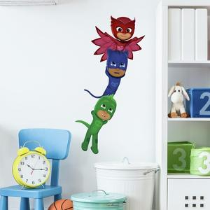 PJ MASKS SUPERHEROES PEEL AND STICK GIANT WALL DECALS by PJ MASKS