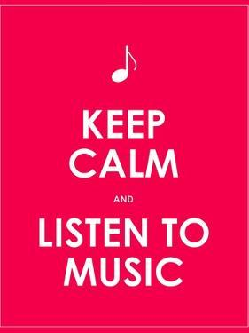 Keep Calm and Listen to Music,Vector Background,Eps10 by place4design