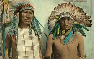 Plains Indian Chiefs, Two Lodge, Long Bear
