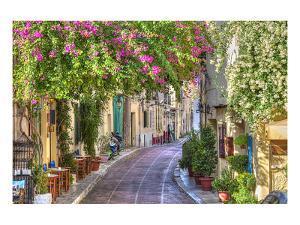 Plaka Area by Acropolis Athens