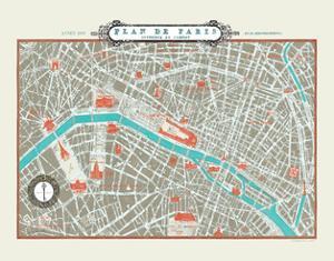 Plan de Paris Map