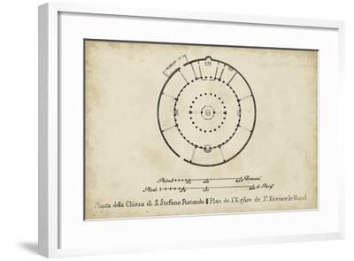 Plan for St. Stephen's Rotunda--Framed Giclee Print