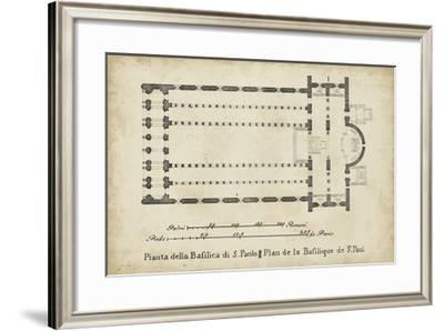 Plan for the Basilica at St. Paul's--Framed Giclee Print