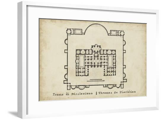 Plan for the Baths of Diocletian--Framed Giclee Print