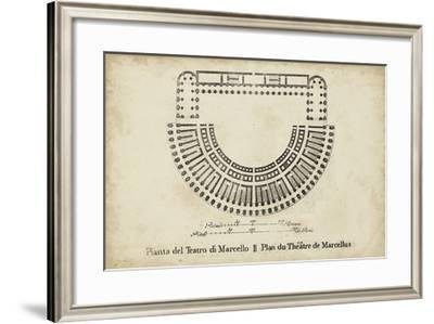 Plan for the Theatre of Marcellus--Framed Giclee Print