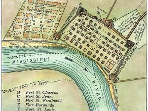 Plan Of New Orleans, 1798