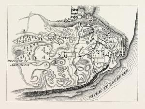 Plan of the Attack on Quebec in 1775, from Thayer's Journal of the Invasion of Canada, 1870S