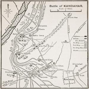 Plan of the Battle of Kandahar