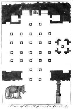 Plan of the Elephanta Caves, India, 1799